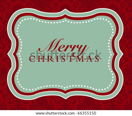 Vector Merry Christmas Frame and Background - stock vector