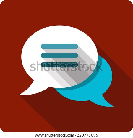 Vector Message Bubbles Flat Icon - stock vector
