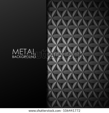 vector metal background - stock vector