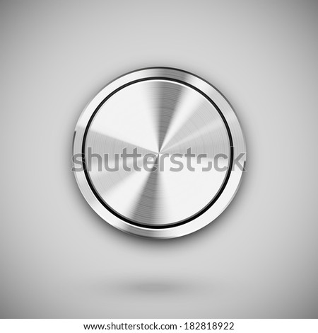vector metal circle button template for user interfaces (UI), applications (apps) and business presentations - stock vector