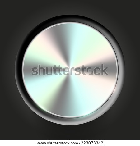 Vector metal colored volume button - stock vector