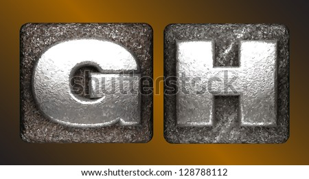 Vector Metal figure - stock vector