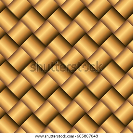 Vector Metal Gold Texture Golden Abstract Background With Square Details Seamless Pattern