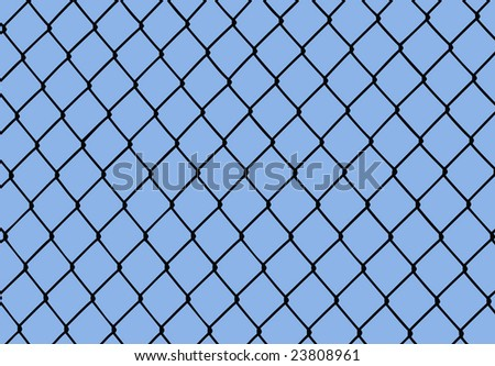 vector -metal grid against a blue sky