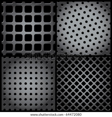 vector metal grid collection - stock vector