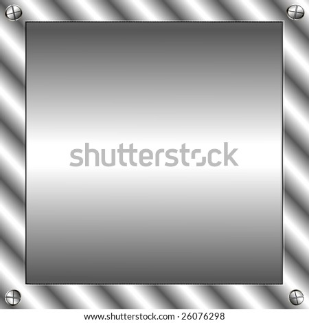 Vector Metal Plate - stock vector
