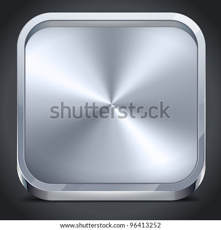 Vector Metal Plate Icon for Web and Mobile - stock vector