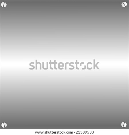 Vector Metal Plate With Screws - stock vector