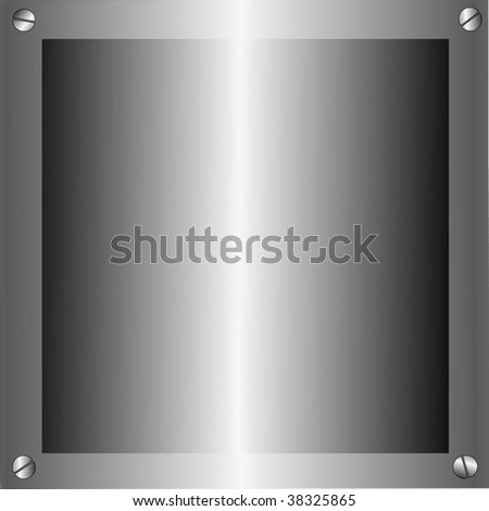 Vector Metal Plates - stock vector
