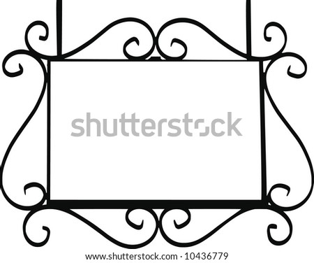 vector - metal street sign - stock vector