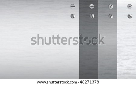 vector metal texture, realistic looking. comes with 2 kind of screws. - stock vector