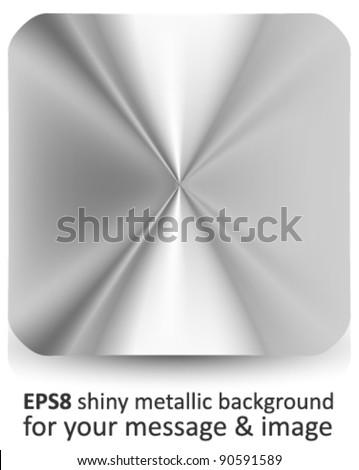 vector metallic background - stock vector