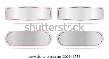 Vector Metallic name plate or Metal label .Vector illustration - stock vector