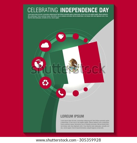 vector mexico independence day flyer template creative brochure title page national day leaflet design - Mexico Brochure Template