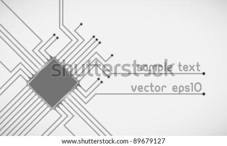 Vector microchip background - stock vector