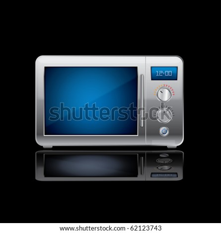 vector microwave stove - stock vector