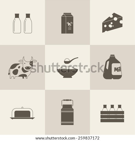 vector milk icon - stock vector