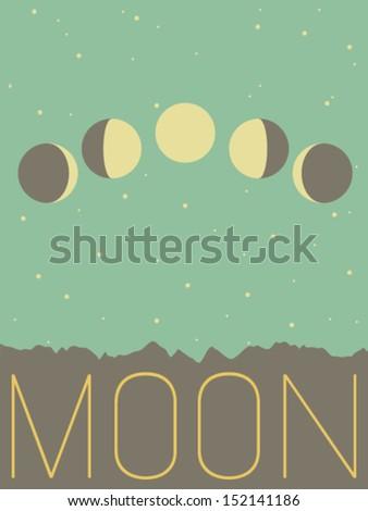 Vector Minimal Design - Moon  - stock vector