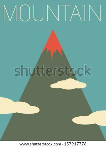 Vector Minimal Design - Mountain  - stock vector