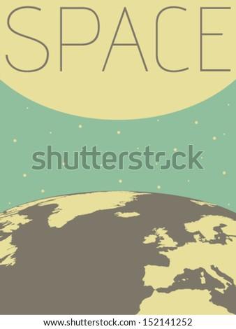 Vector Minimal Design - Space  - stock vector