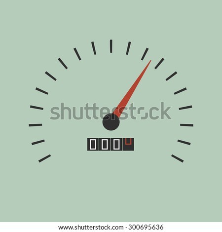Vector minimal illustration of speedometer gauges - stock vector