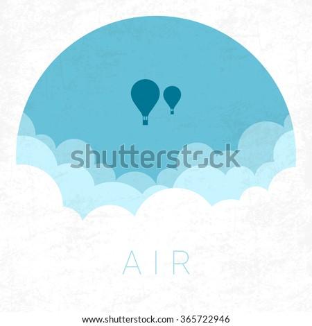 Vector Minimal Poster: Air - stock vector