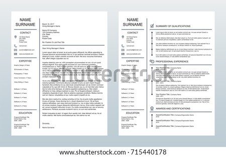 Vector Minimalist Creative Cover Letter One Stock Photo Photo
