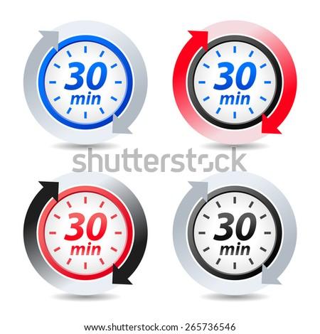 Vector 30 minutes - stock vector