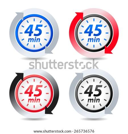 Vector 45 minutes - stock vector