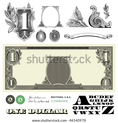 Vector Miscellaneous Monetary Ornaments - stock vector