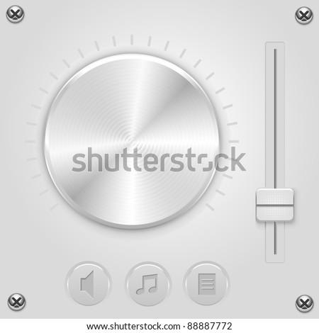 Vector mixer volume control - stock vector