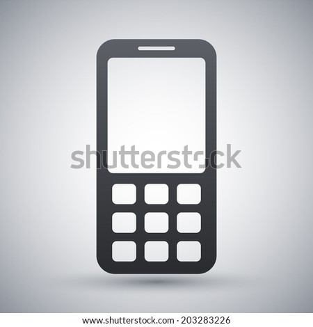 Vector mobile phone icon - stock vector