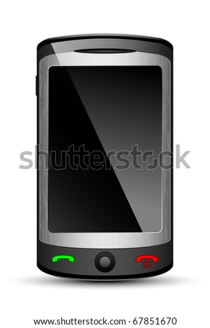Vector Mobile phone, original design - stock vector