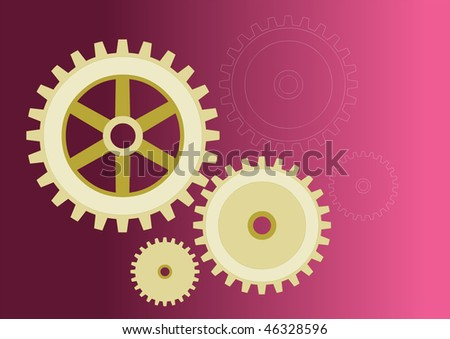Vector model of gears, in 3 different versions