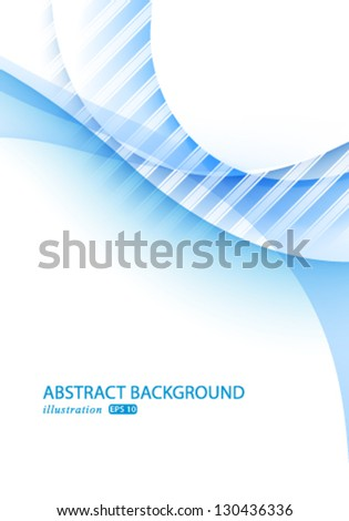 Vector modern abstract blue business illustration background.