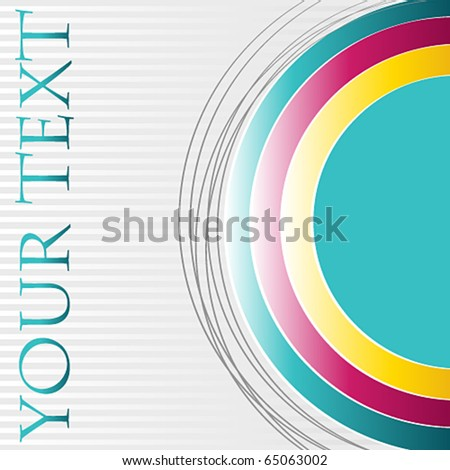 Vector modern abstract business background - stock vector