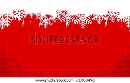 Vector modern abstract grunge winter background - stock vector