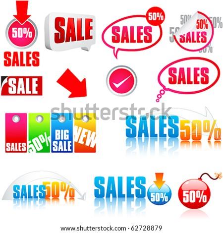 Vector modern abstract sale illustration - stock vector
