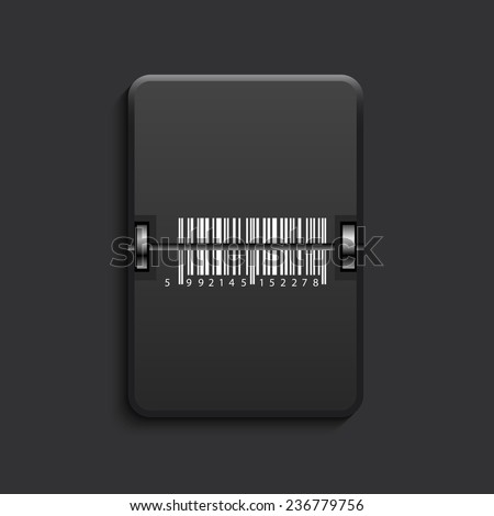 vector modern bar code scoreboard black icon. Eps 10 - stock vector