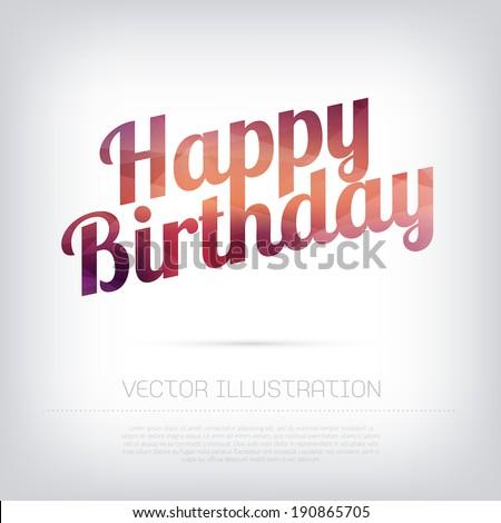 Vector Modern Birthday Greeting Card Modern Stock Vector 2018