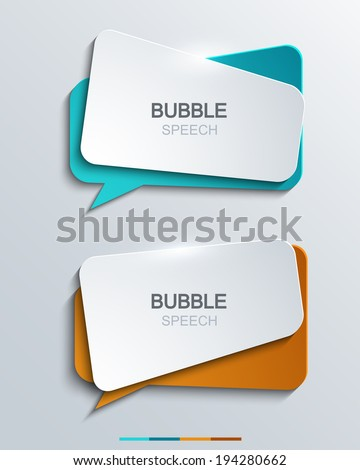 Vector modern bubble speech icons set. Business development,education. - stock vector