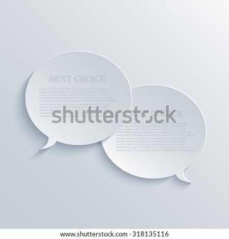 Vector modern bubble speech light background - stock vector