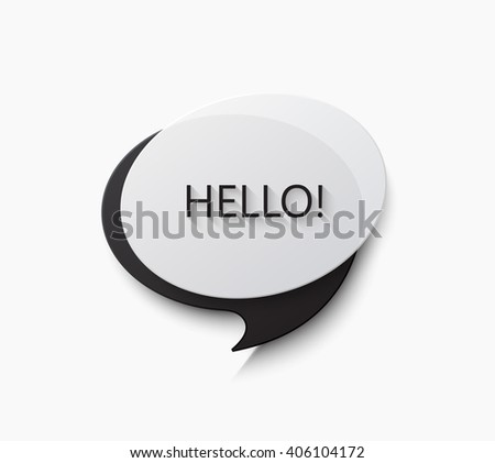 Vector modern bubble speech or chat background - stock vector