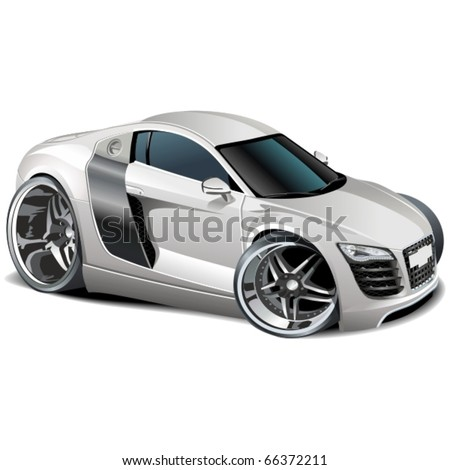 Vector modern cartoon car - stock vector