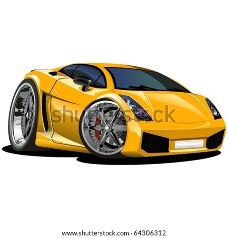Vector modern cartoon car. See all serie in my portfolio - stock vector
