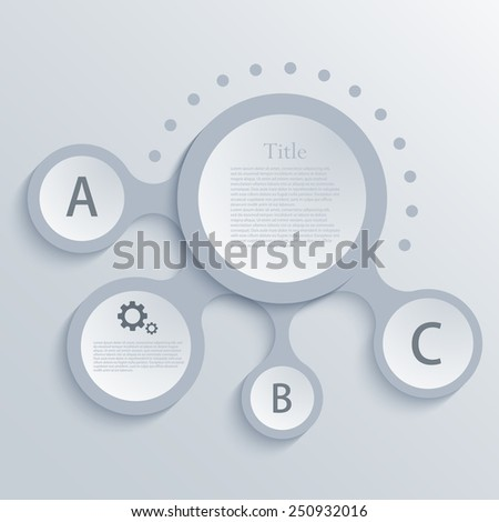 Vector modern circle infographic background design element - stock vector
