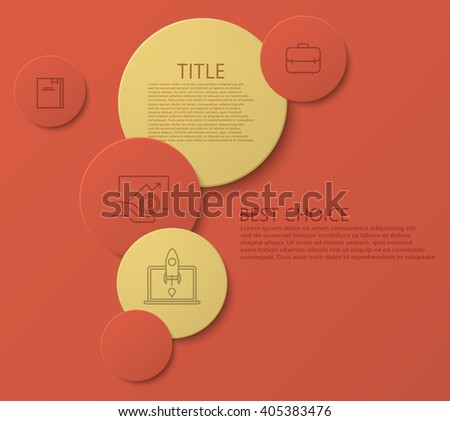 Vector modern circle technology infographic background. Eps10 - stock vector