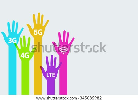 Vector modern colorful hands mobile internet infographics background. Creative template
