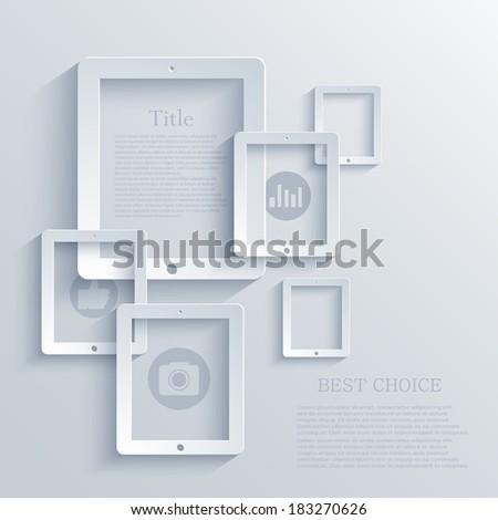 Vector modern computer tablet background. Eps 10 - stock vector