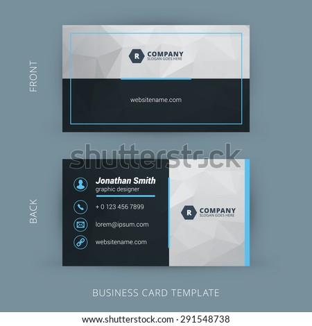 Vector modern creative clean business card stock vector 291548738 vector modern creative and clean business card template colourmoves Images